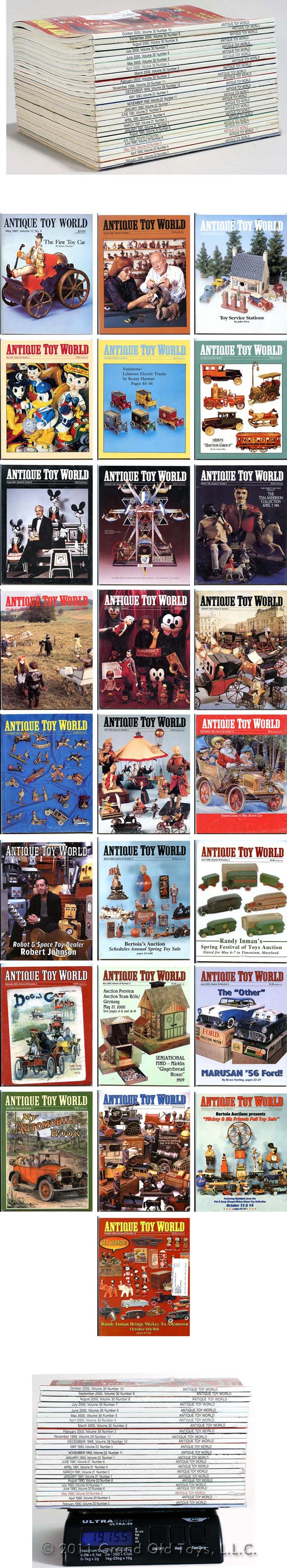 Antique Toy World Magazine 25 Early Issues 1987-2000