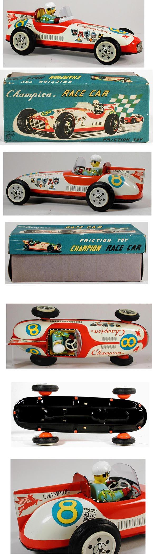 c.1960 Asahi, #8 Champion Race Car in Original Box