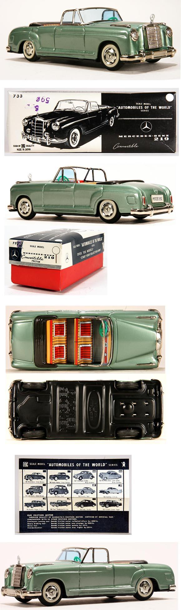 1959 Bandai, Mercedes-Benz 219 Convertible in Original Box