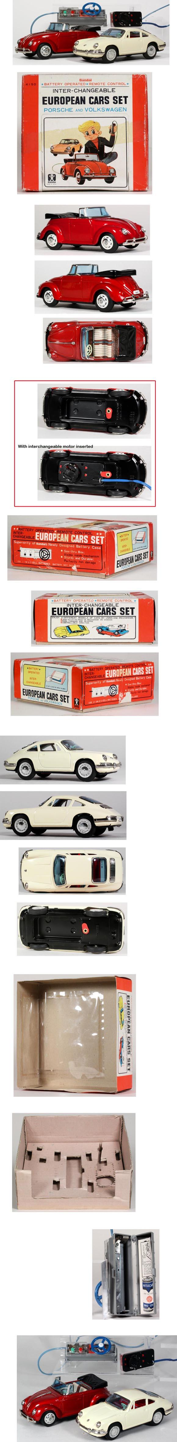 1967 Bandai, Volkswagen & Porsche Set In Original Box