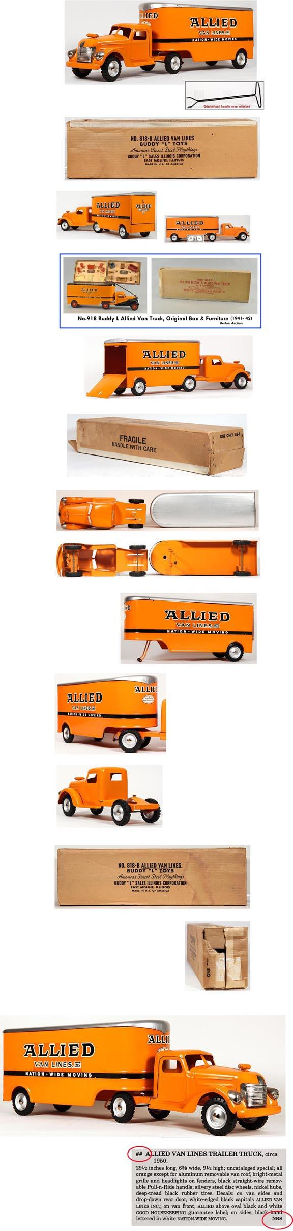 1950 Buddy L No. 818-B Allied Van Lines In Original Box