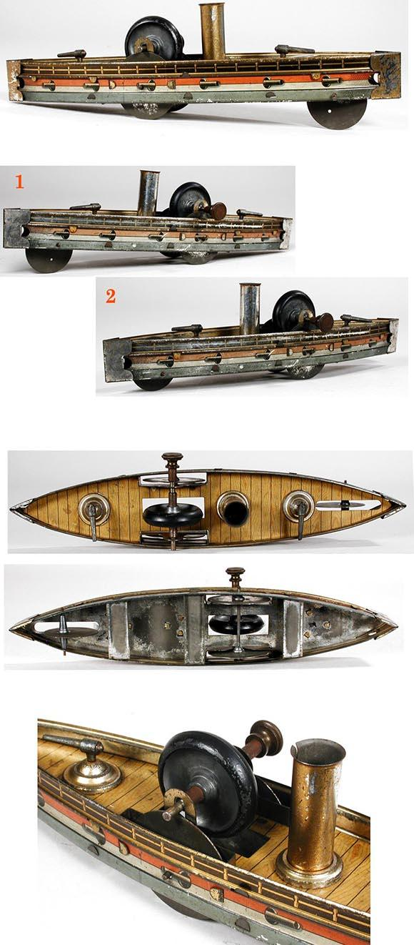 c.1905 Carette, Flywheel Driven Gun Boat
