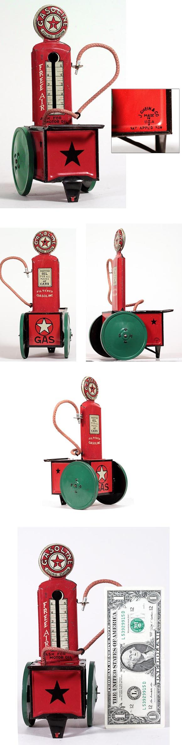c.1928 Chein, Texaco Filling Station 'Free-Air' Pump Cart