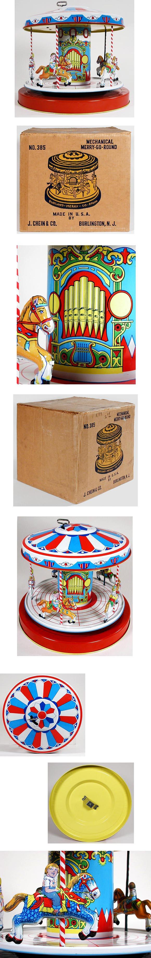 1950 Chein, No.385 Merry-Go-Round in Original Box
