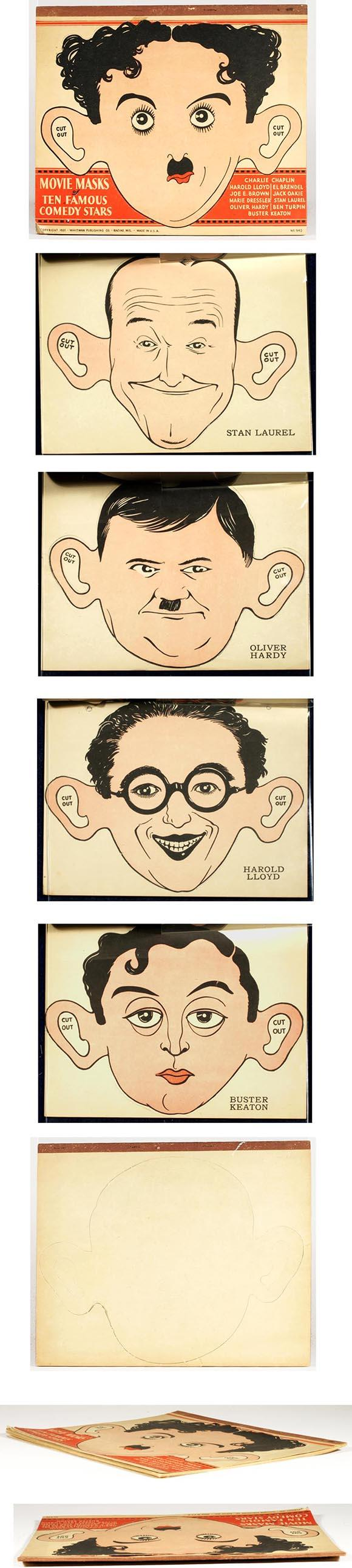 1931 Whitman, Movie Masks of 10 Famous Comedy Stars