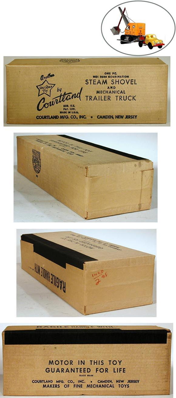 1949 Courtland, No.5300 Steam Shovel & Mechanical Trailer Truck in Factory Sealed Box