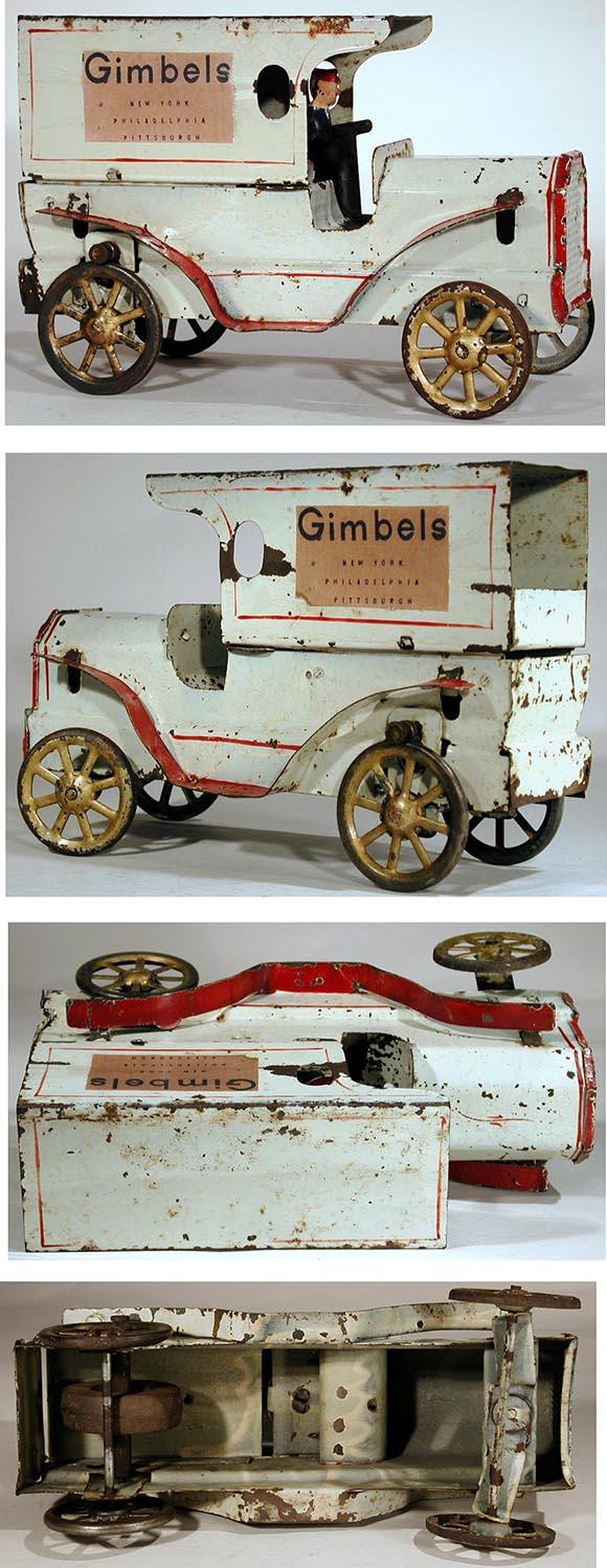 1911 Dayton Friction Toy Co., Gimbels Auto Delivery Truck