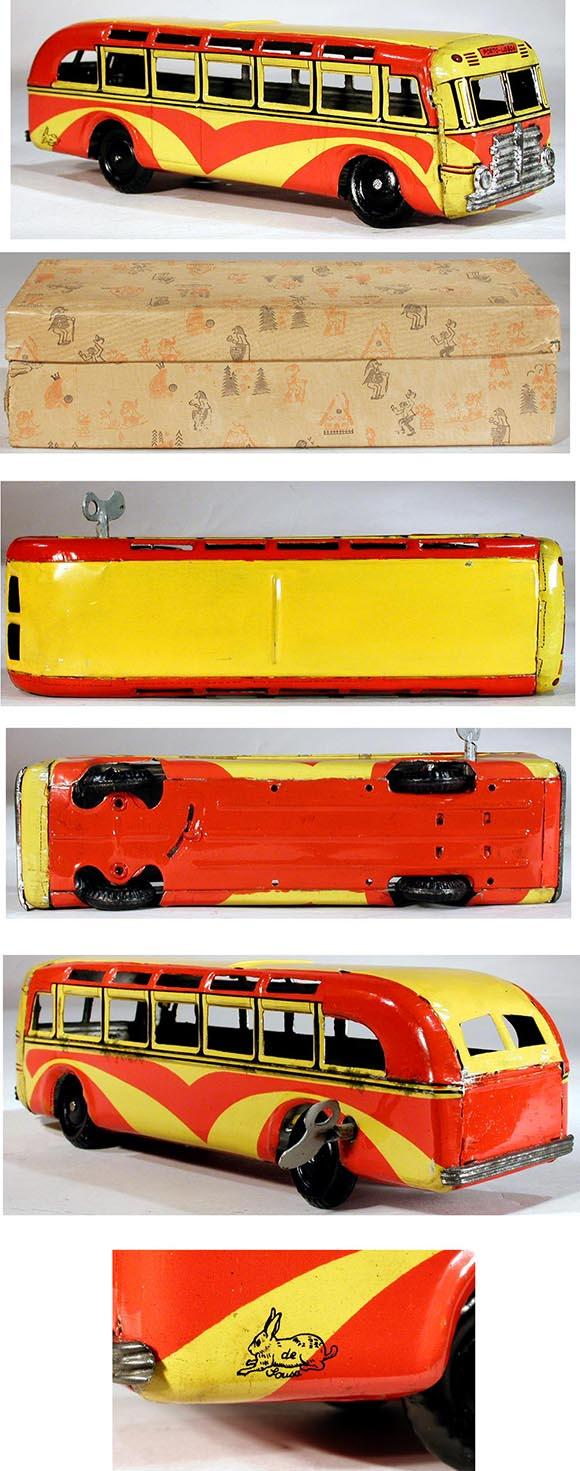 c.1948 de Lousa, Mechanical Tinplate Bus in Original Box