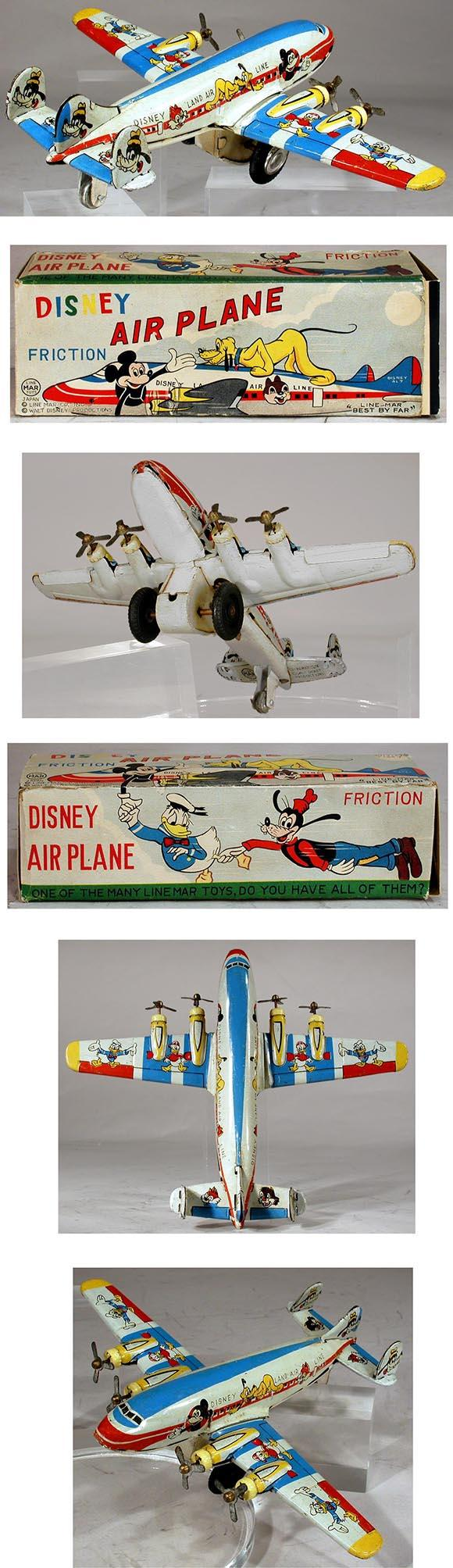 1959 Linemar, Disney Friction Airplane in Original Box