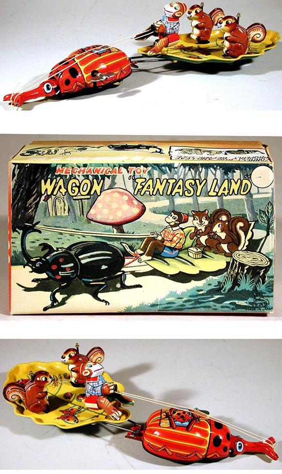 c.1960 TPS, Mechanical Toy Wagon Fantasy Land in Original Box
