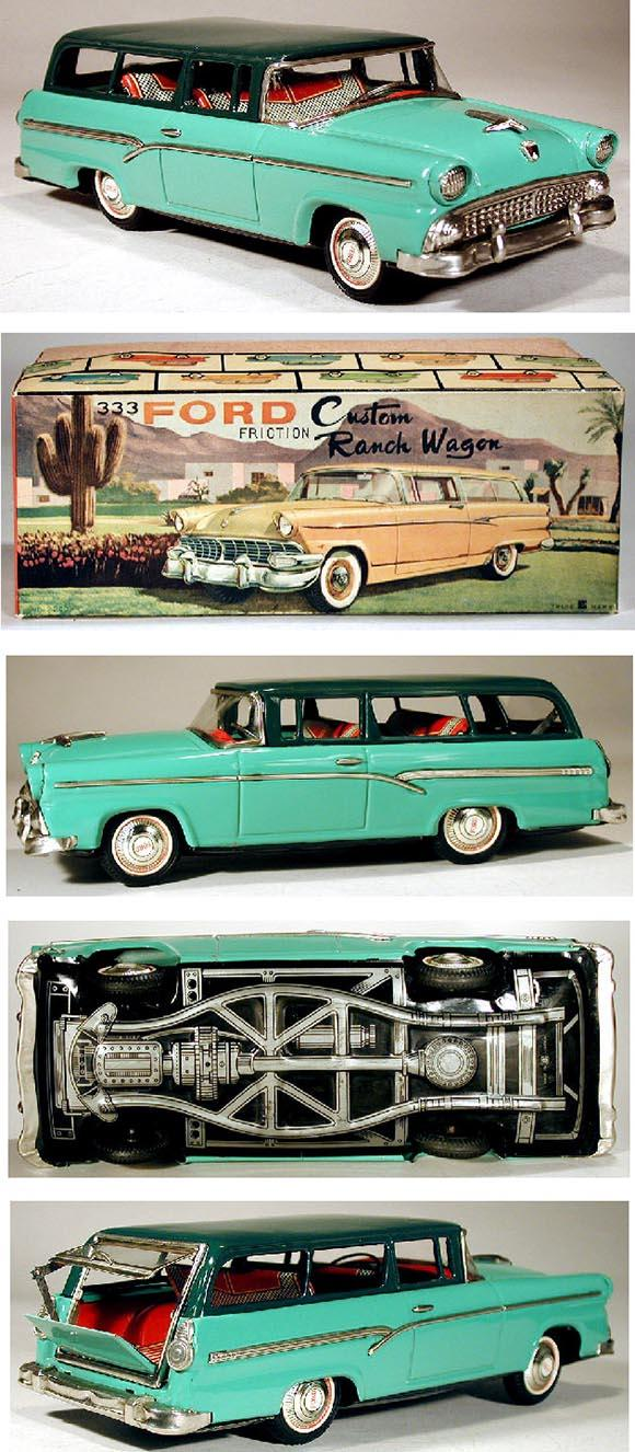 1957 Bandai, No. 523 Ford Fairlane Ranch Wagon in Original Box