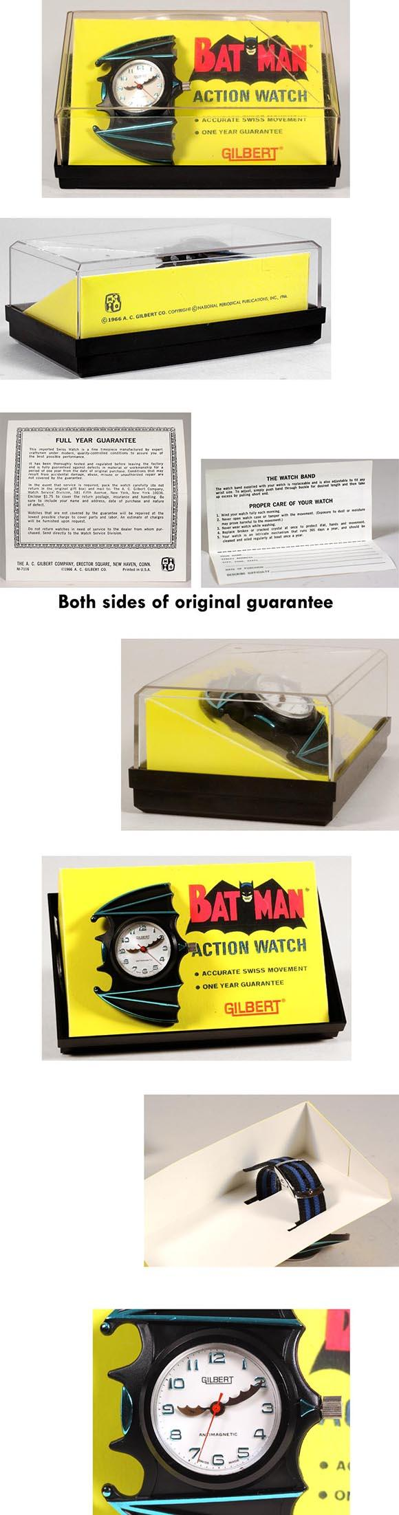 1966 A.C. Gilbert, Batman Figural Action Watch in Original Box