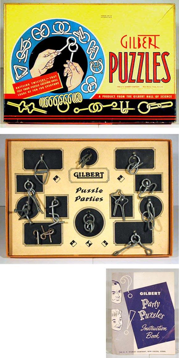 1940 A.C. Gilbert, 20 Puzzle Parties in Original Box