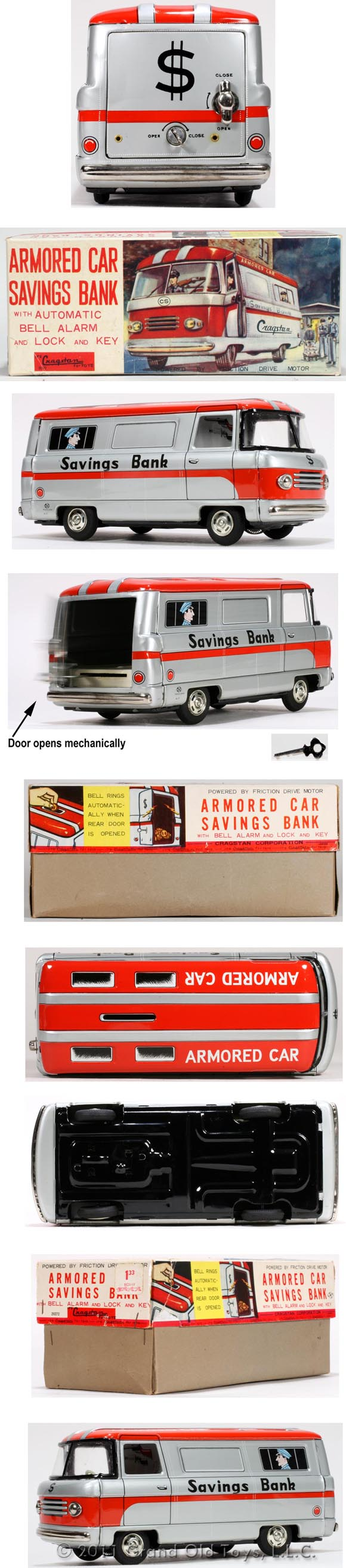 c.1965 Hayashi Armored Car Savings Bank In Original Box