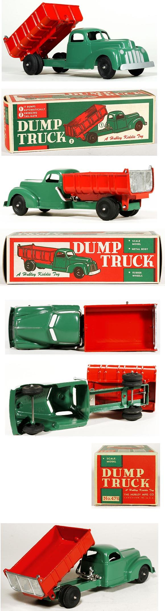 c.1948 Hubley, No.476 Kiddie Dump Truck in Original Box
