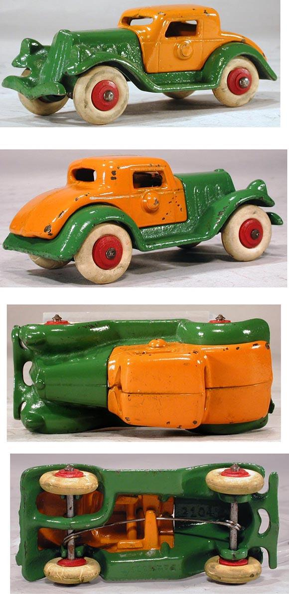 1933 Hubley, 2pc. Detachable Cast Iron Coupe