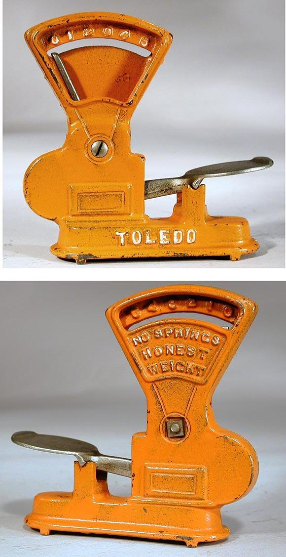c.1930 Hubley, Cast Iron Toledo Scale