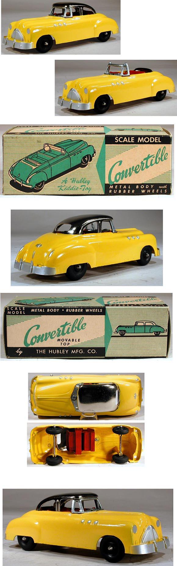 1954 Hubley, No. 465 Buick Convertible with Movable Top in Original Box