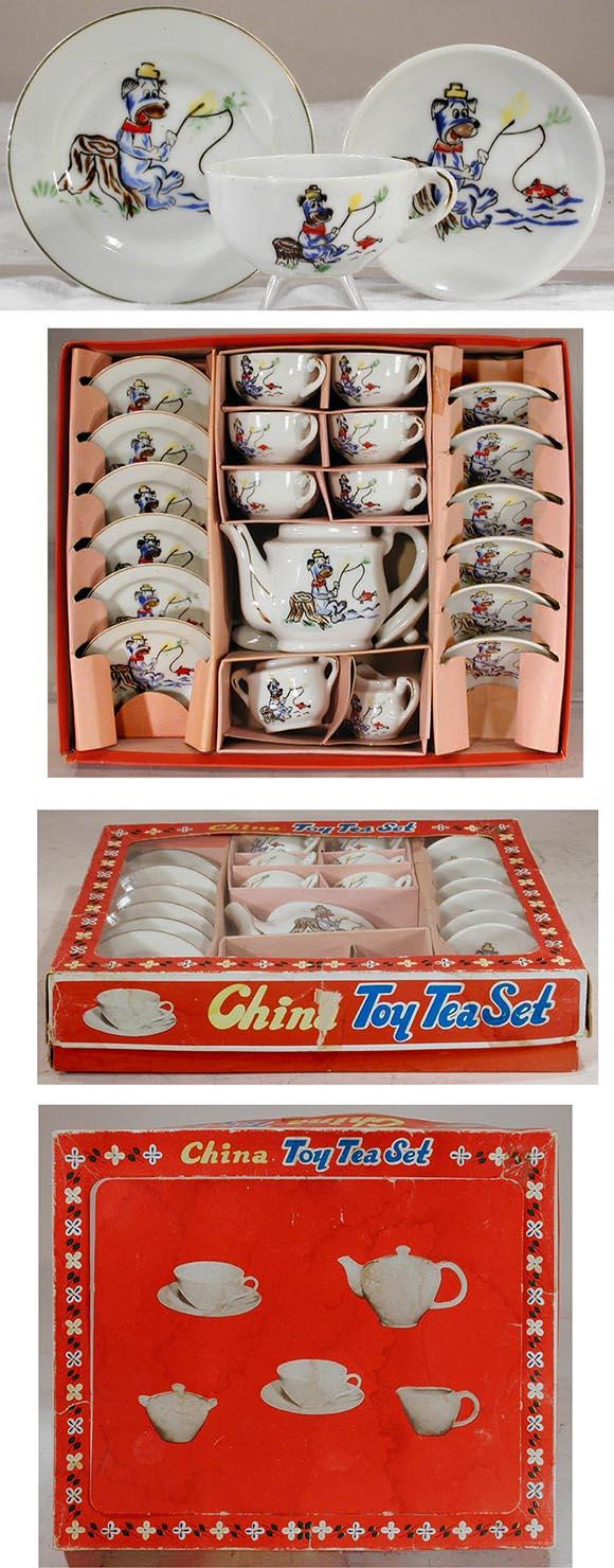 c.1959 Japan, 23pc. Huckleberry Hound China Serving Set in Original Box