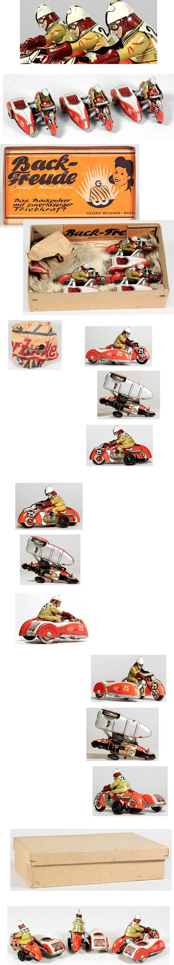 c.1946 Keinberger Huki, 3 Racing Motorcyles in Original Box