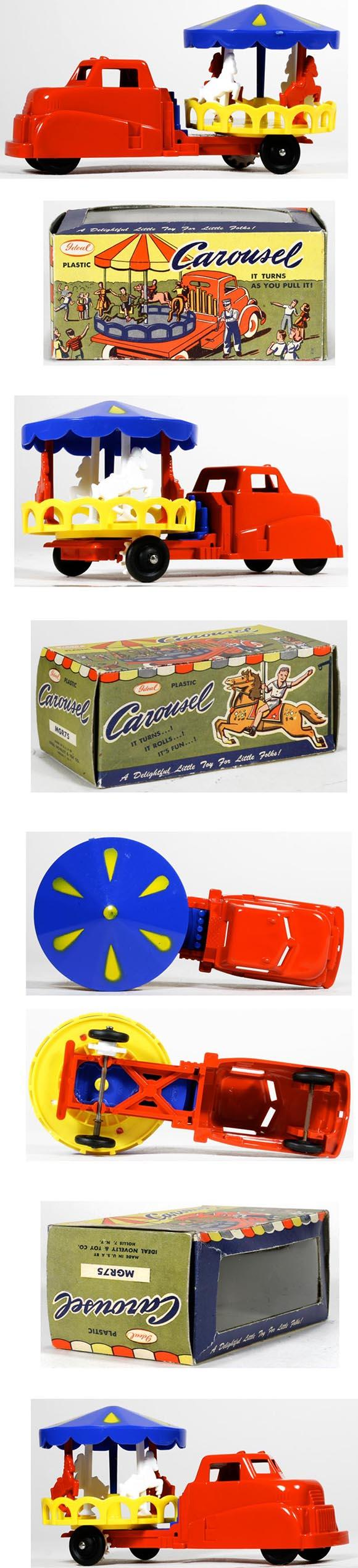 1949 Ideal Novelty & Toy Co., Carousel Truck in Original Box