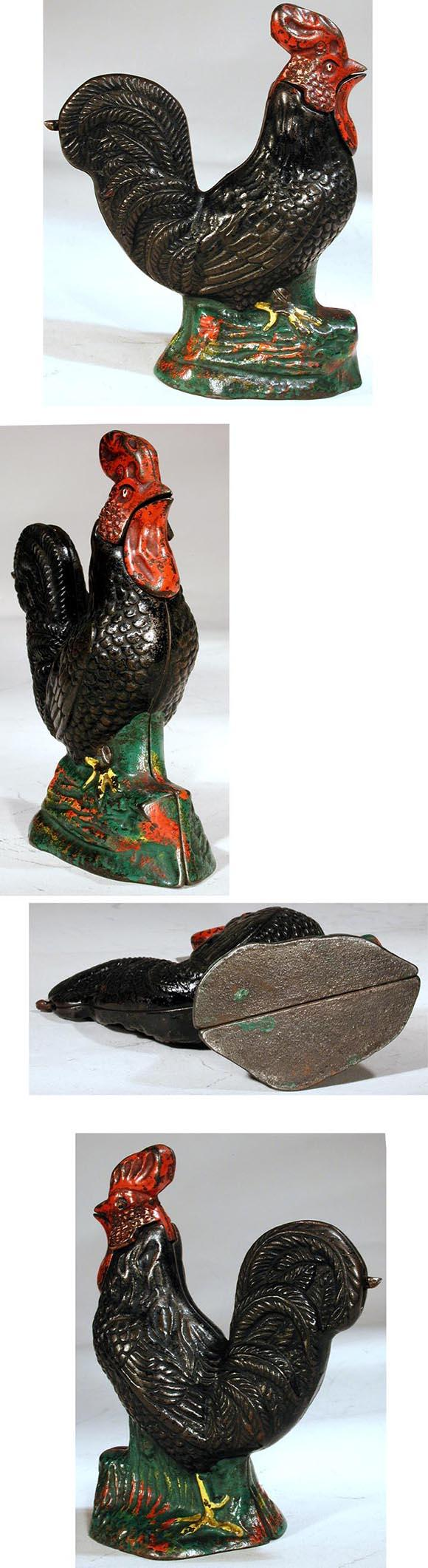 c.1880 Kyser and Rex Co., Cast Iron Mechanical Rooster Bank