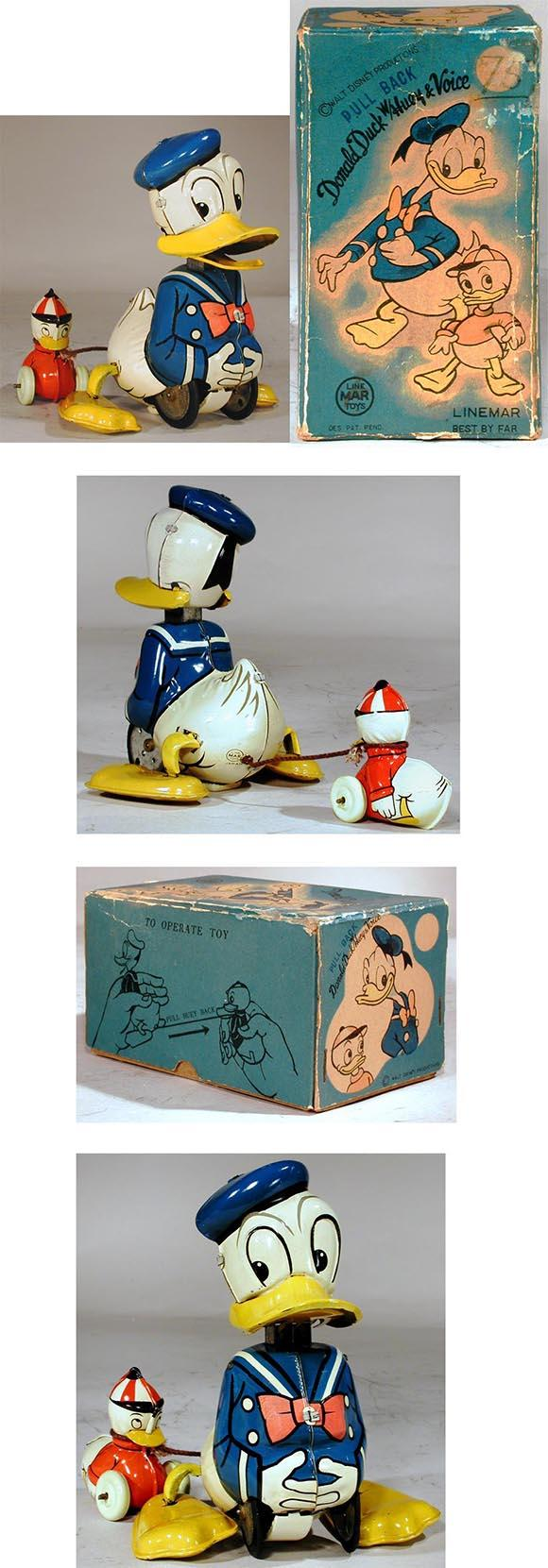 c.1955 Linemar, Donald Duck with Huey and Voice in Original Box