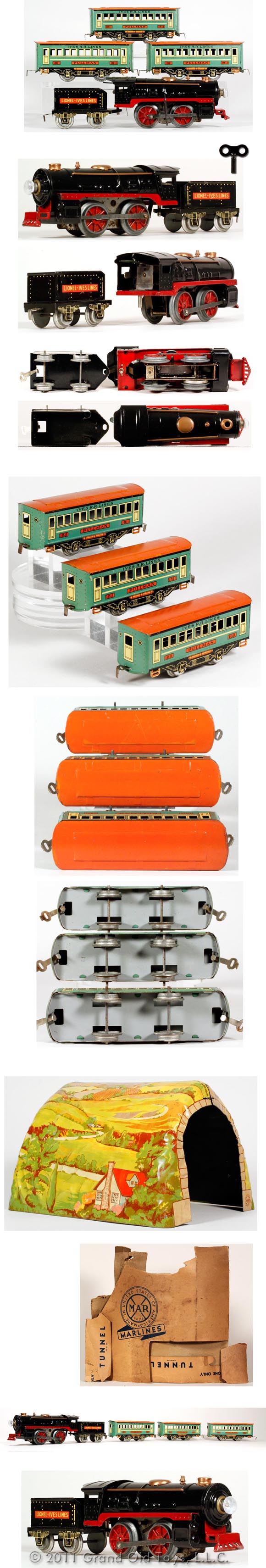 1933 Lionel Ives 5pc Mechanical Train Set