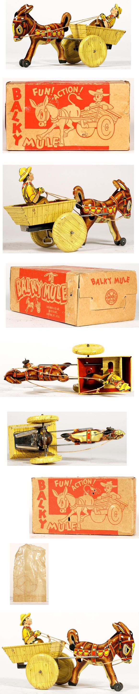 1948 Marx, Balky Mule in Original Box