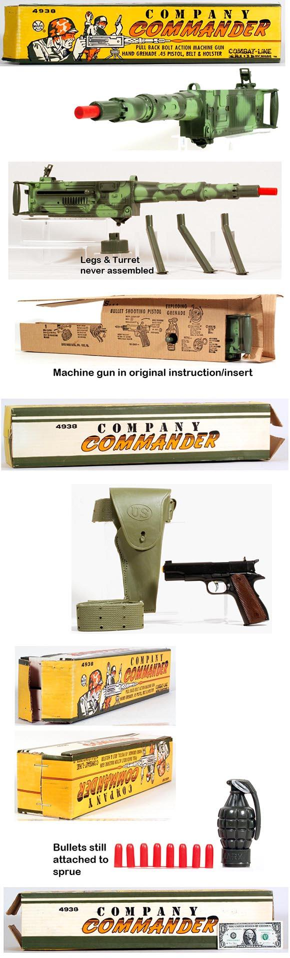 1963 Marx No.4938 Company Commander Combat Set in Original Box