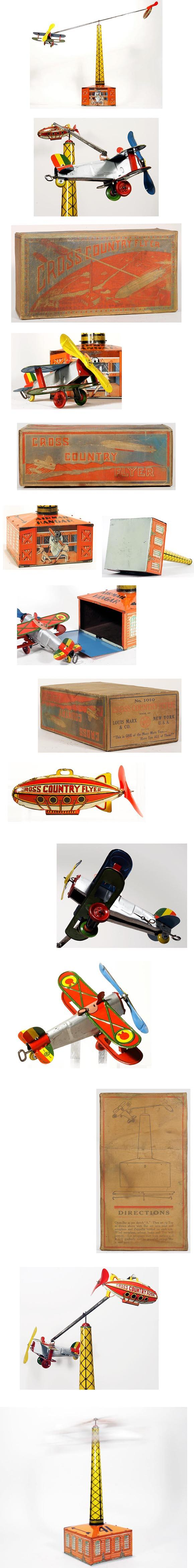 1928 Marx, No.1010 Cross Country Flyer in Original Box