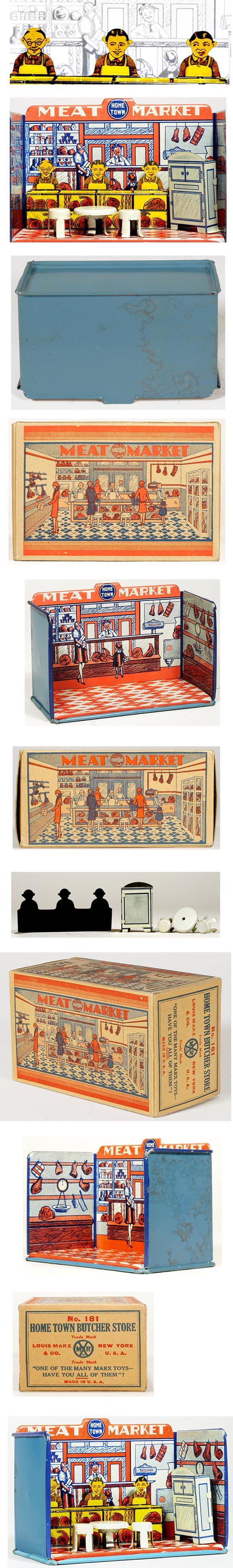 1930 Marx, Home Town Meat Market in Original Box