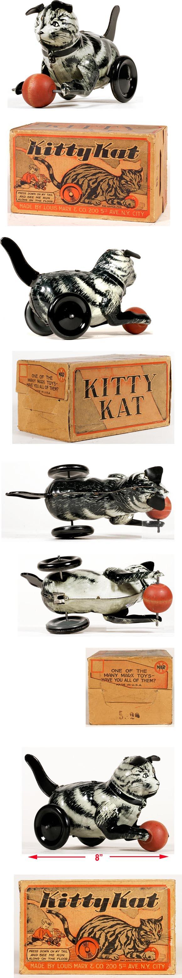1937 Marx, Large Mystery Kitty Kat in Original Box