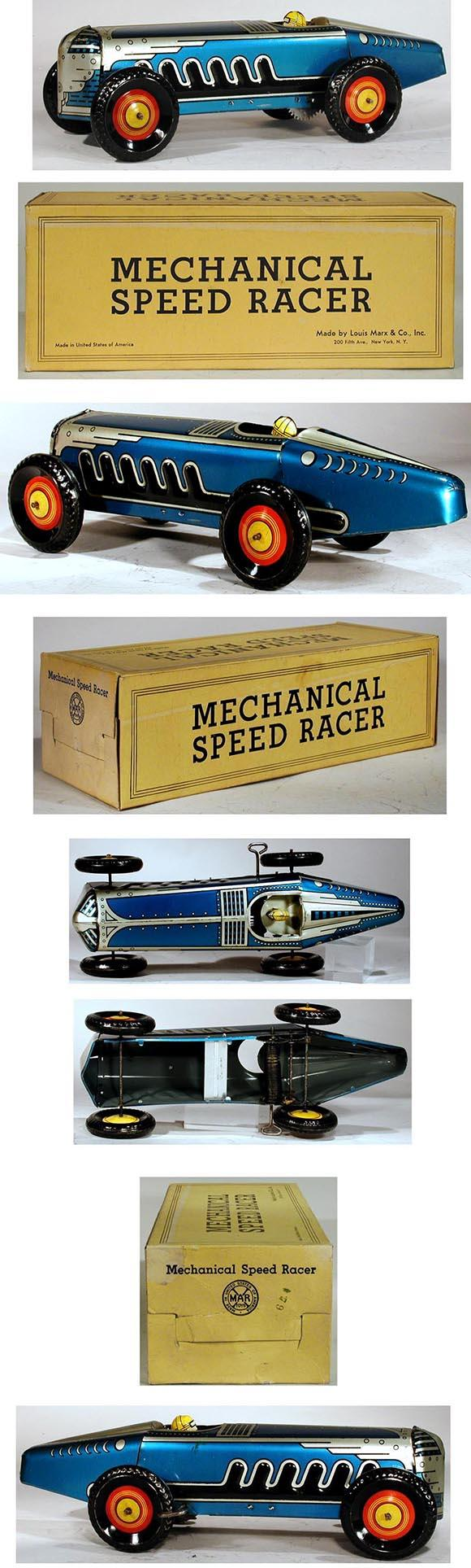 1939 Marx, Mechanical Speed Racer in Original Box