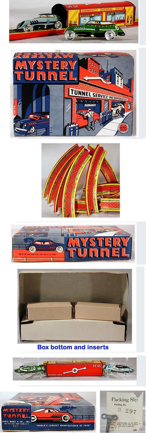 c.1949 Marx, 12pc. Mystery Tunnel in Original Box #2