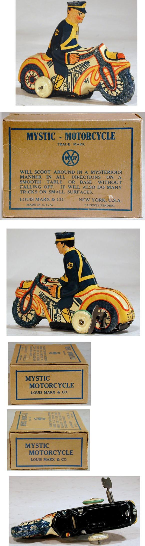 1936 Marx, Mystic Motorcycle in Original Box