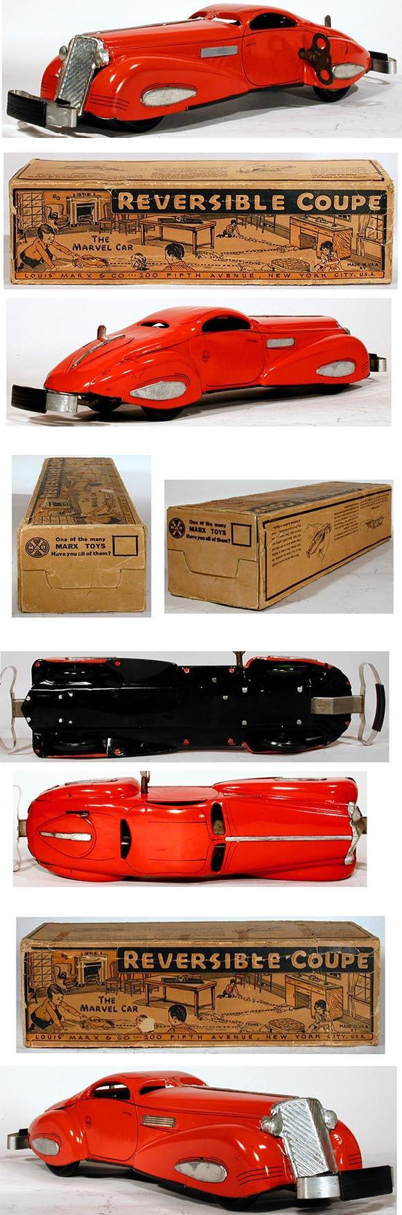 1936 Marx, Reversible Coupe The Marvel Car in Original Box