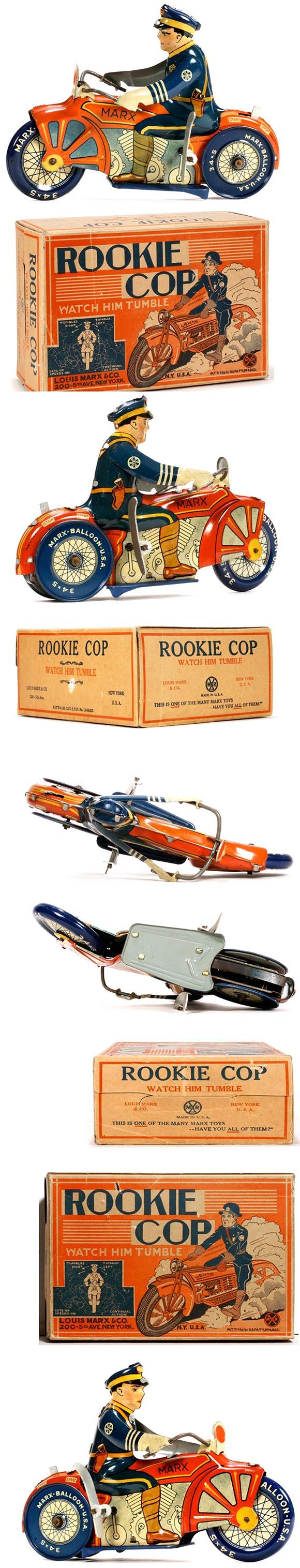 1933 Marx, Police Rookie Motorcycle Cop in Original Box