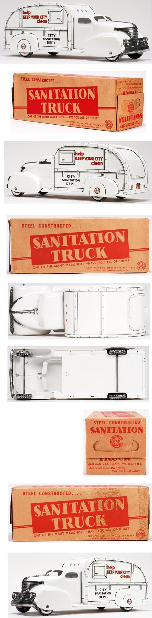 1951 Marx, City Sanitation Truck in Original Box