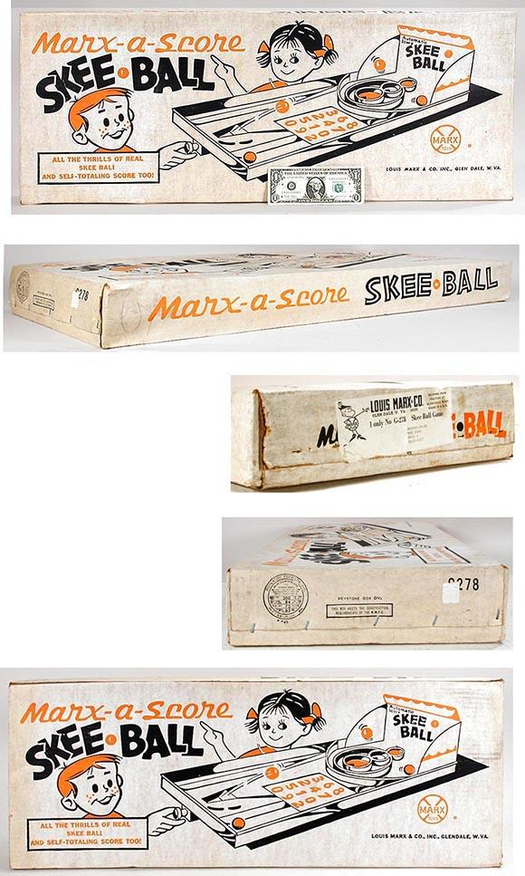 1964 Marx, Marx-a-Score Skee Ball, Sealed in Original Box