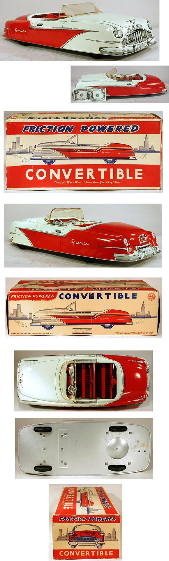 1955 Marx, Friction Powered Sportster Convertible in Original Box