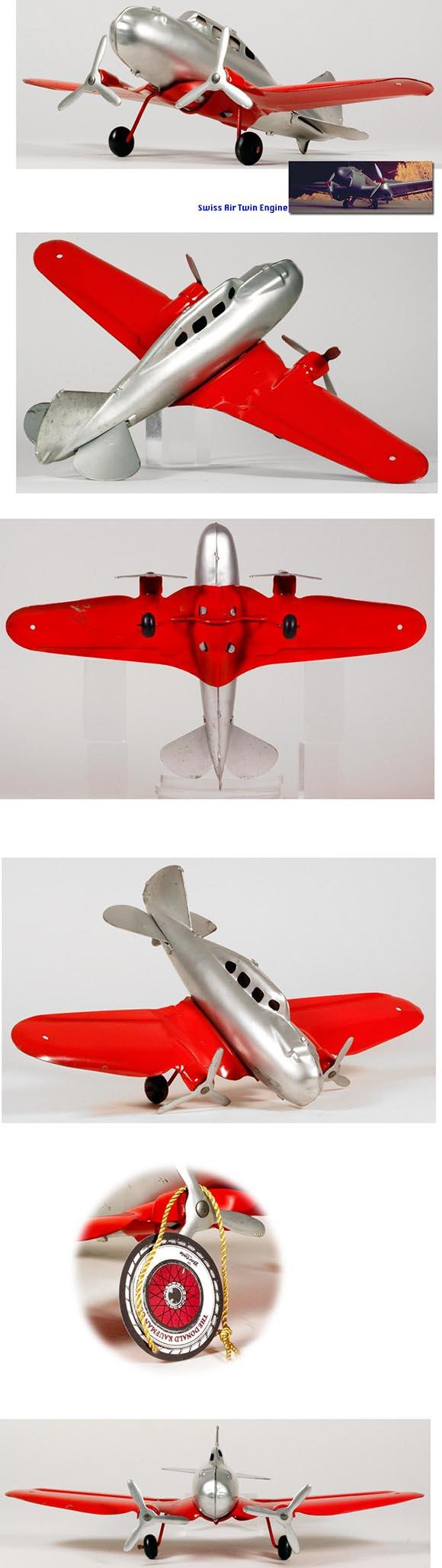 c.1946 Marx Pressed Steel Twin Engine Airplane