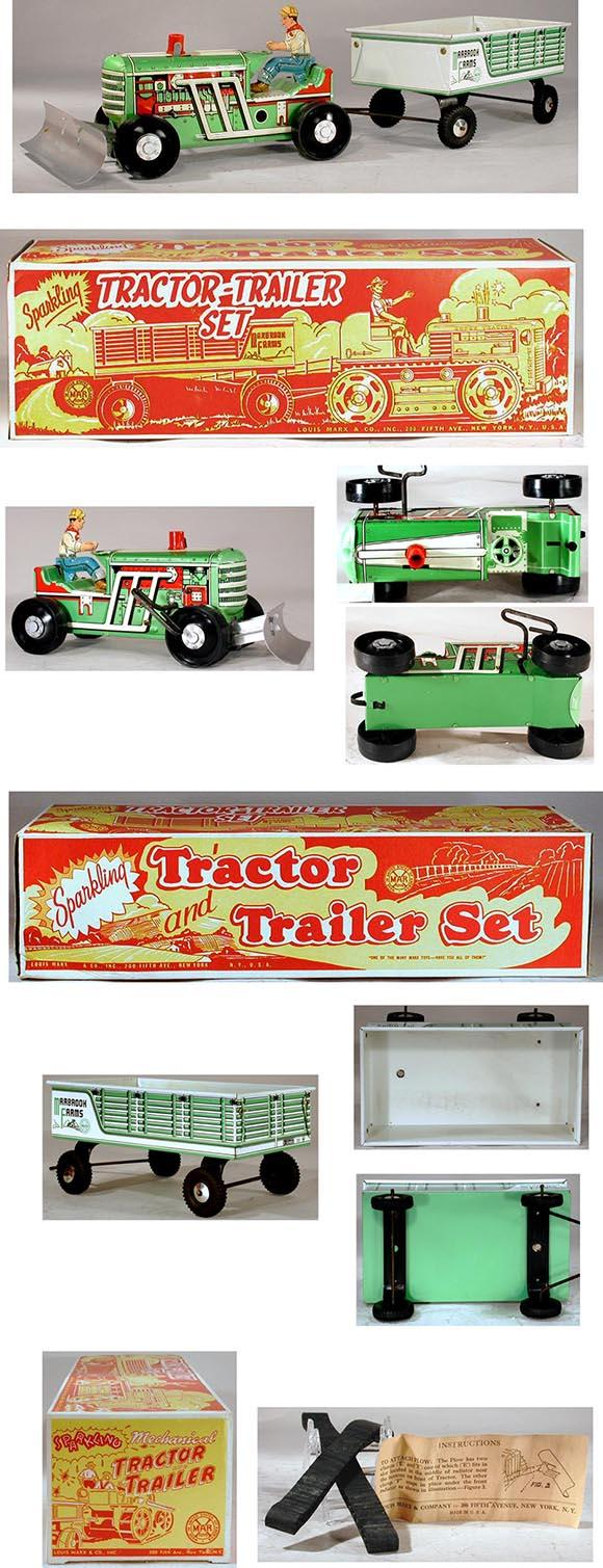 1948 Marx, Sparkling Tractor-Trailer Set in Original Box