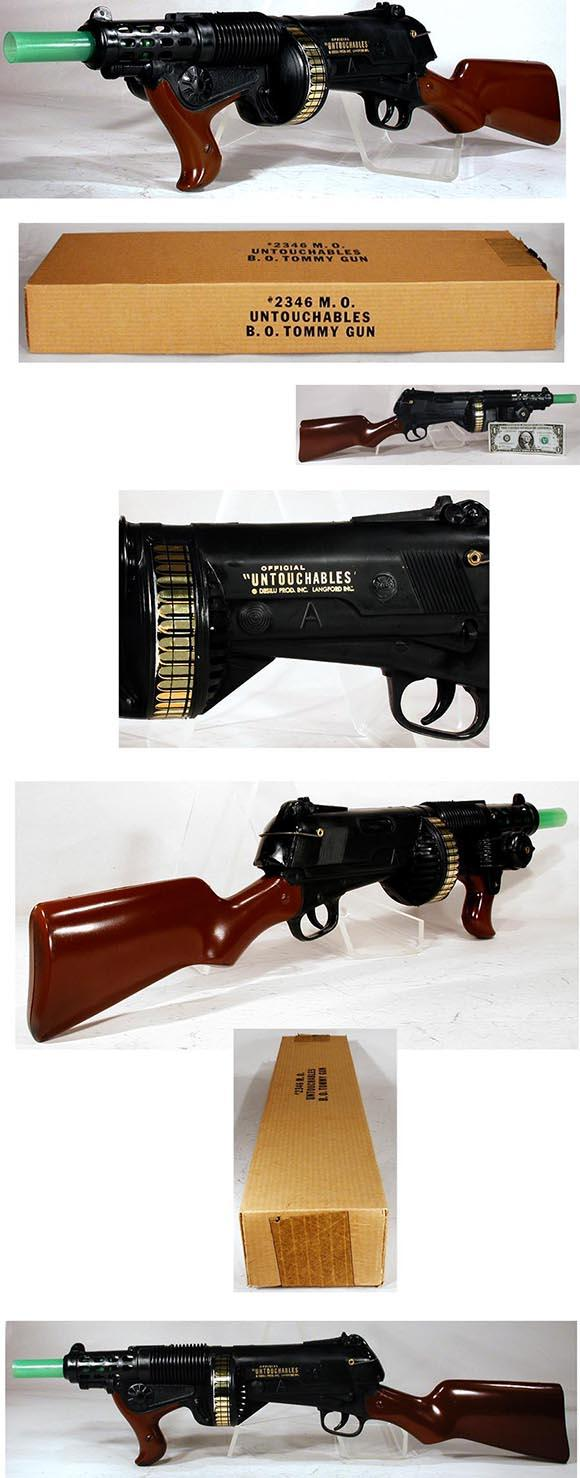 1961 Marx, Untouchables Battery Operated Tommy Gun in Original Box