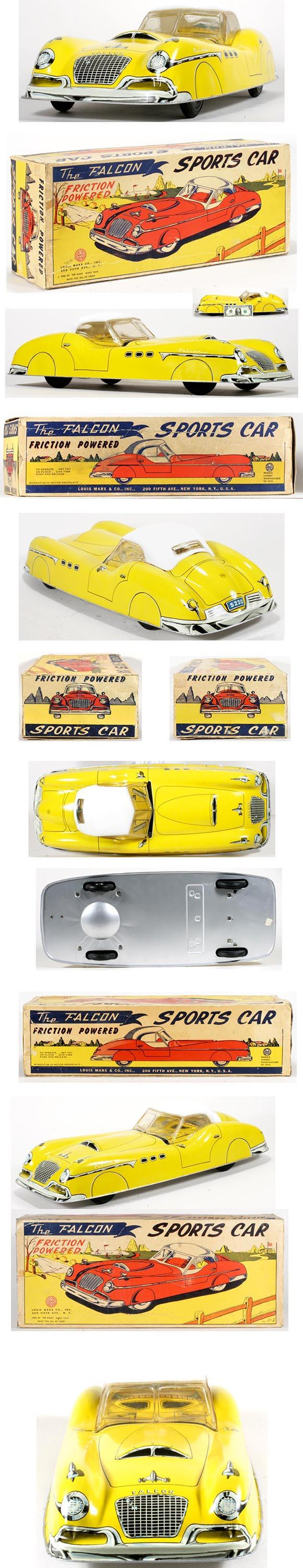 1956 Marx, The Falcon Friction Sports Car in Original Box