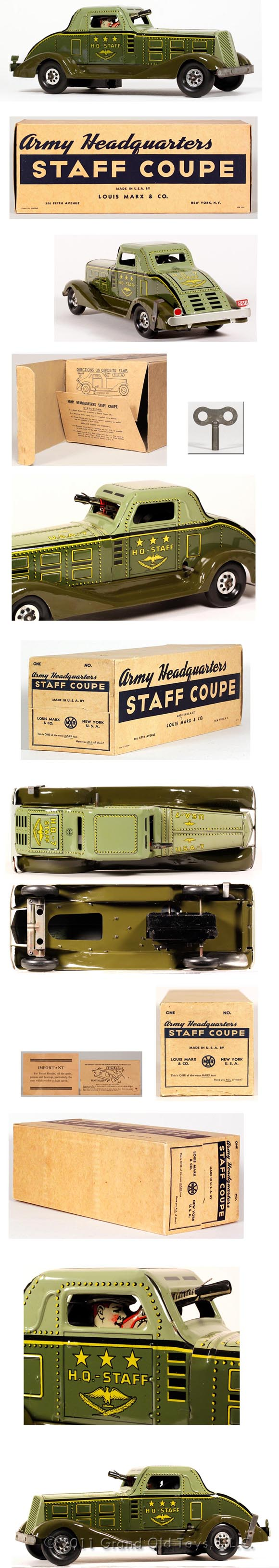 1939 Marx Army Headquarters Staff Coupe In Original Box