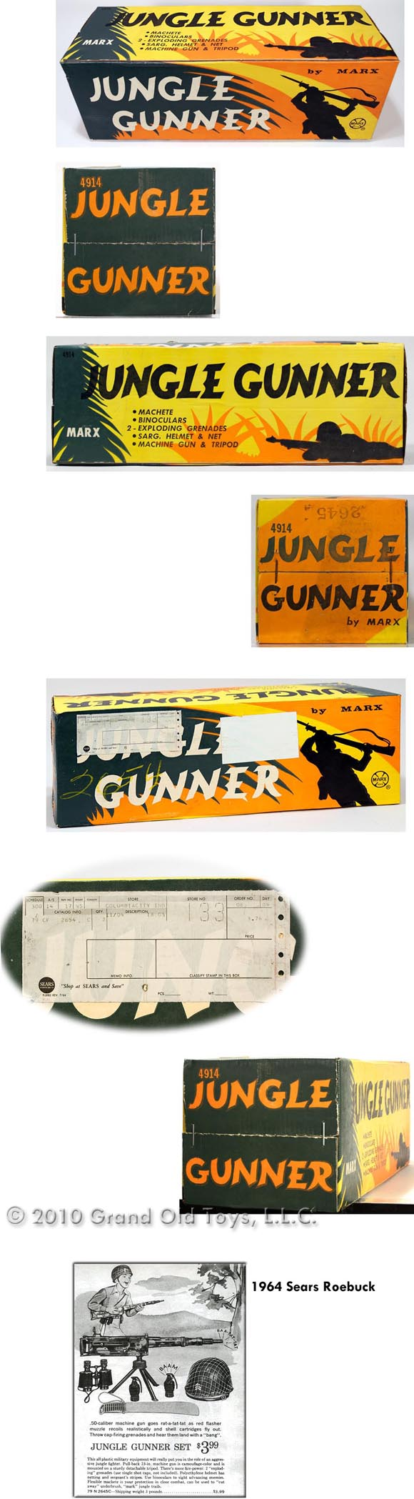 1964 Marx Jungle Gunner Playset In Factory Sealed Box