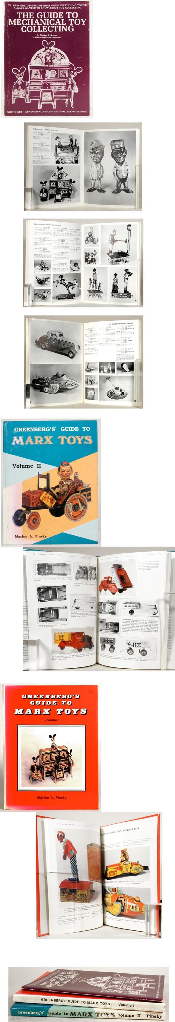Three Mechanical Toy Collecting Books