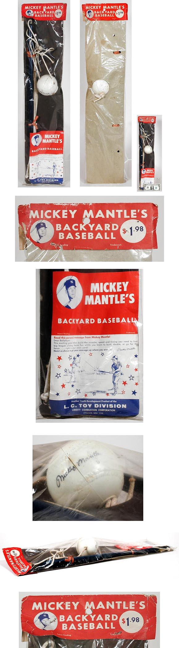 1960 L.C. Toy, Mickey Mantle's Backyard Baseball, Sealed in Original Bag