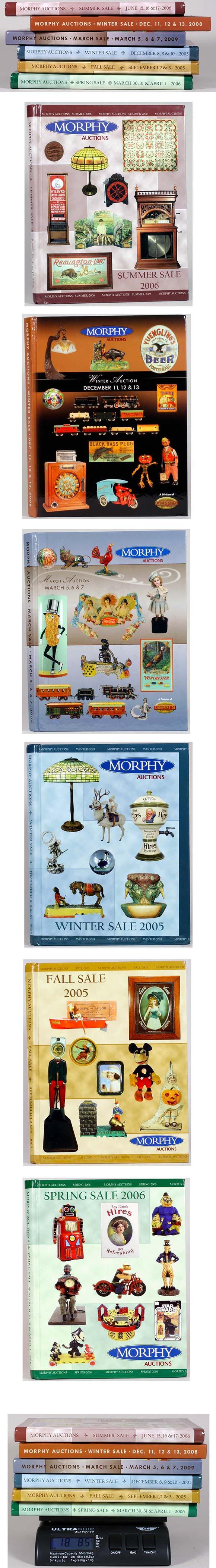 18+ lbs. (6 Issues) of Morphy Auction Catalogs